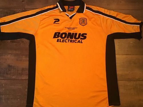 2002 2004 Hull City Promotion Season 2003 04 Football Shirt XL
